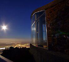Moonrise from Mt. Wellington by Julien Johnston