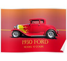 1930 Ford Model A Coupe Profile w/ID Poster