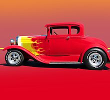 1930 Ford Model A Coupe - Profile w/o ID by DaveKoontz