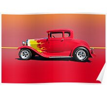 1930 Ford Model A Coupe - Profile w/o ID Poster