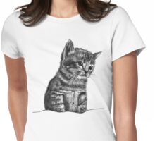 Wilbur The Kitten Womens Fitted T-Shirt