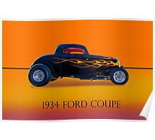 1934 Ford Coupe - Profile w/ID Poster