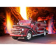 Farming Town Fire Truck Photographic Print