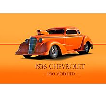 1936 Chevy Coupe Pro Mod w/ID Photographic Print