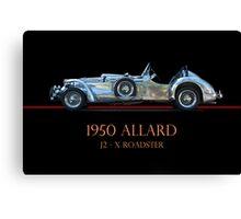 1950 Allard XJ  - 2 Roadster w/ID Canvas Print