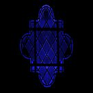Gothic Leaded Glass Window, in Blue by HazardousCoffee
