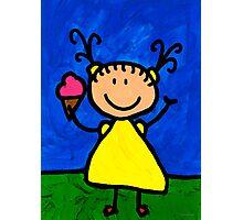 Happi Arte 3 - Little Girl Ice Cream Cone Art Photographic Print