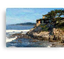 Carmel Bay Beach House Canvas Print