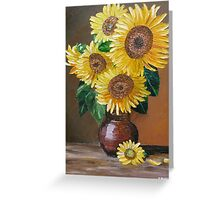 Large Sunflowers Greeting Card