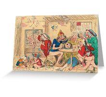 Un Petit souper a la Parisienne by Gillray Greeting Card