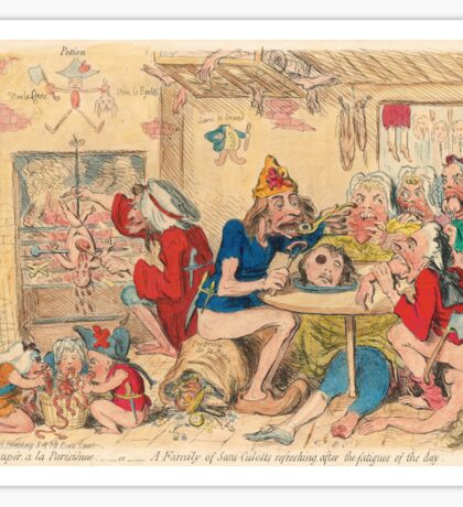 Un Petit souper a la Parisienne by Gillray Sticker