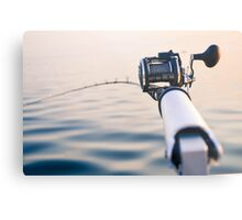 Fishing Rod Metal Print