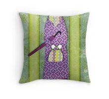 Mysterious Miss Marple Throw Pillow