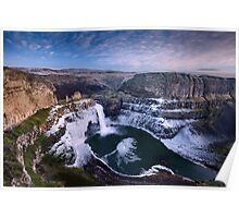 Winter at Palouse Falls Poster