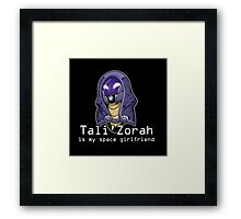 Tali is My Space Girlfriend Framed Print