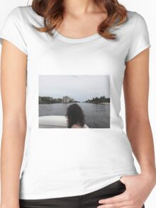 Boating Women's Fitted Scoop T-Shirt