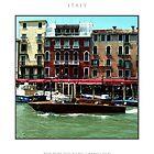 Riva Boat Along Grand Canal Venice by MassimoConti