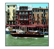 Riva Boat Along Grand Canal Venice by MassimoConti