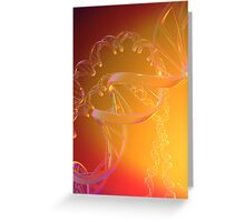 3D Human DNA Strand in Clear Plastic Material Greeting Card