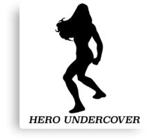Hero undercover Canvas Print