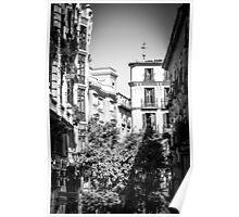 Buildings of Madrid, Spain Poster