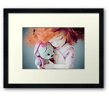 Eve and miss Teddy Framed Print