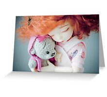Eve and miss Teddy Greeting Card