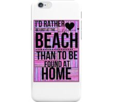 lost at the beach  iPhone Case/Skin