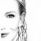 Cate Blanchett pencil portrait by wu-wei