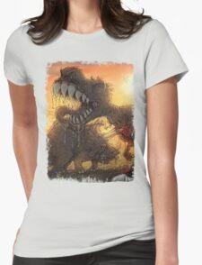 Epoch Cretaceous Dinosaur Battle Womens Fitted T-Shirt