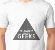 90's Grunge Retro Circle Triangle's Are For Geeks Symbol Unisex T-Shirt