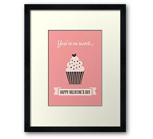 Cute Valentine's Day Design Framed Print