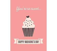 Cute Valentine's Day Design Photographic Print