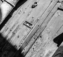 Wooden door by Jonathan Evans