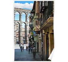 The streets of Segovia Poster