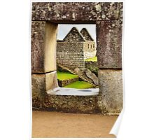 Window on Machu Picchu's house Poster