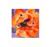 Oriental Poppy (red) (Original painting sold) Art Print