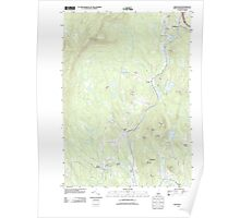 USGS TOPO Map New Hampshire NH Grantham 20120709 TM Poster