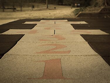Hopscotch Anyone? by Robert Waterhouse