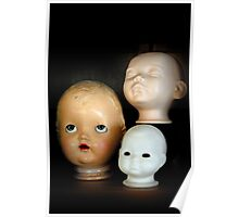 Doll Heads (vertical) Poster