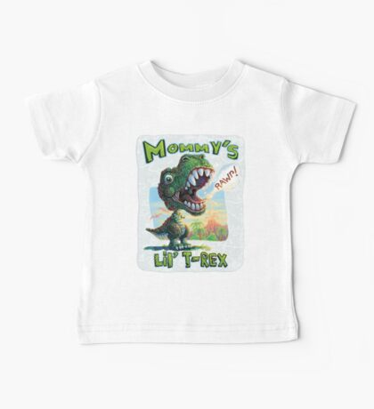 Mommy's Lil' T Rex Baby Tee