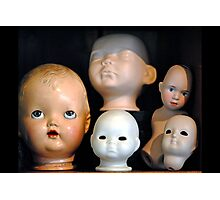 Doll Heads (horizontal) Photographic Print