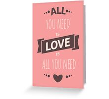 Cute Valentine's Day Design Greeting Card