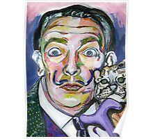 a kitty and his Dali Poster