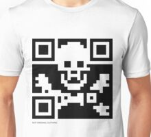 QR Code - Pirate flag Unisex T-Shirt