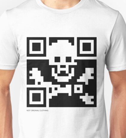 QR Code - Pirate flag Unisex T-Shirt