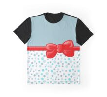 Ribbon, Bow, Dots, Spots - Blue White Red Graphic T-Shirt