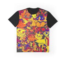 cartoon mixed Graphic T-Shirt