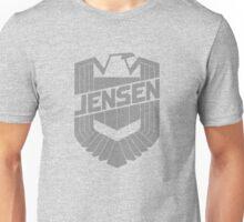 Custom Dredd Badge Shirt - Grey - (Jensen) Unisex T-Shirt