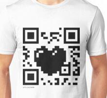 QR Code - Love Heart Unisex T-Shirt